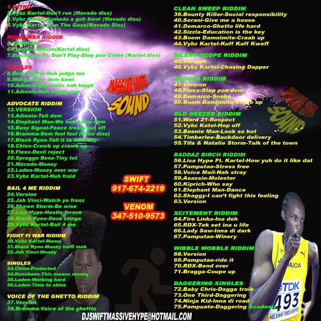 Kuff faff kweef 2009 mix CD backcover 1.26.09