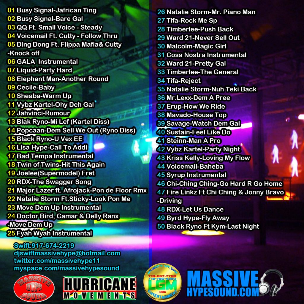 Different Style Dancehall Mix (Back Cover)